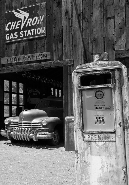 GAS STATION, NELSON, GHOST TOWN, NEVADA (USA)