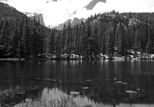 NYMPH LAKE, ROCKY MOUNTAINS NATIONALPARK, COLORADO (USA)